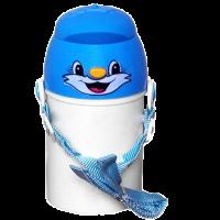 Modrá láhev pro děti s vlastní fotografií