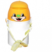 Žlutá láhev pro děti s vlastní fotografií