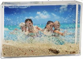 Písečná pláž s vlastní fotografií