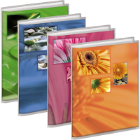 Album SINGO 13x18/24 | modré, oranžové, růžové, zelené