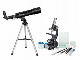 Set mikroskop + teleskop + dalekohled
