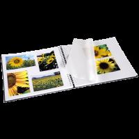 Hama album klasické spirálové FINE ART 36x32 cm, 50 stran, šedé, bílé listy