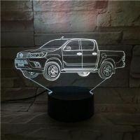 3D lampa Car
