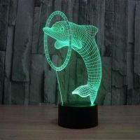 3D lampa Dolphin