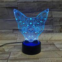 3D lampa Fox