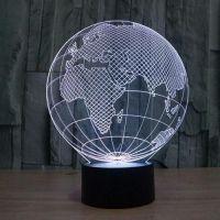 3D lampa Globe