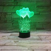 3D lampa Happy Birthday