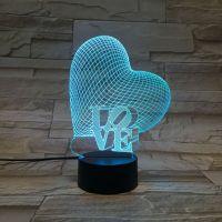 3D lampa Heart