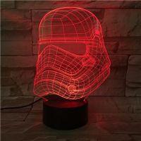 3D lampa Helmet