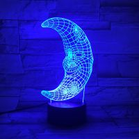 3D lampa Moon