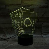 3D lampa Poker