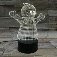 3D lampa Snowman