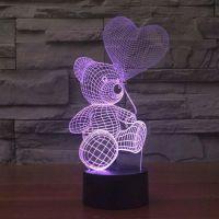 3D lampa Teddy Bear