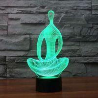 3D lampa Yoga Meditation