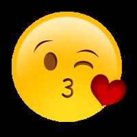 Držák na telefon Emoji Kiss + PopClip
