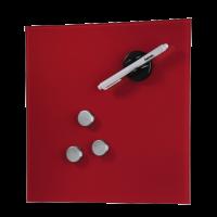 Hama skleněná magnetická tabule, 30x30 cm, červená