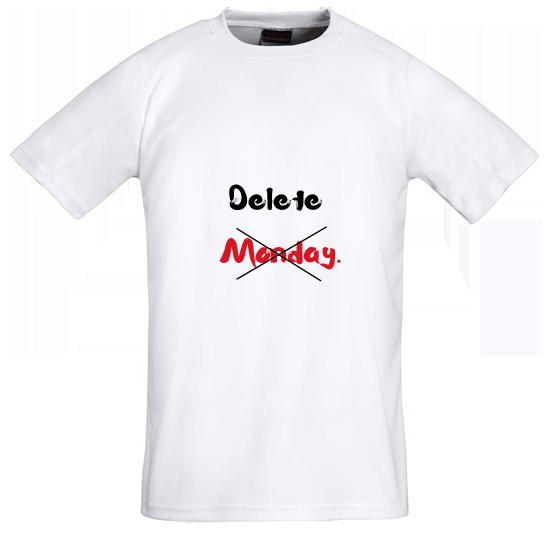 Tričko s potiskem Monday
