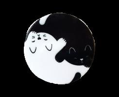 držák na telefon Yin Yang Cats + PopClip