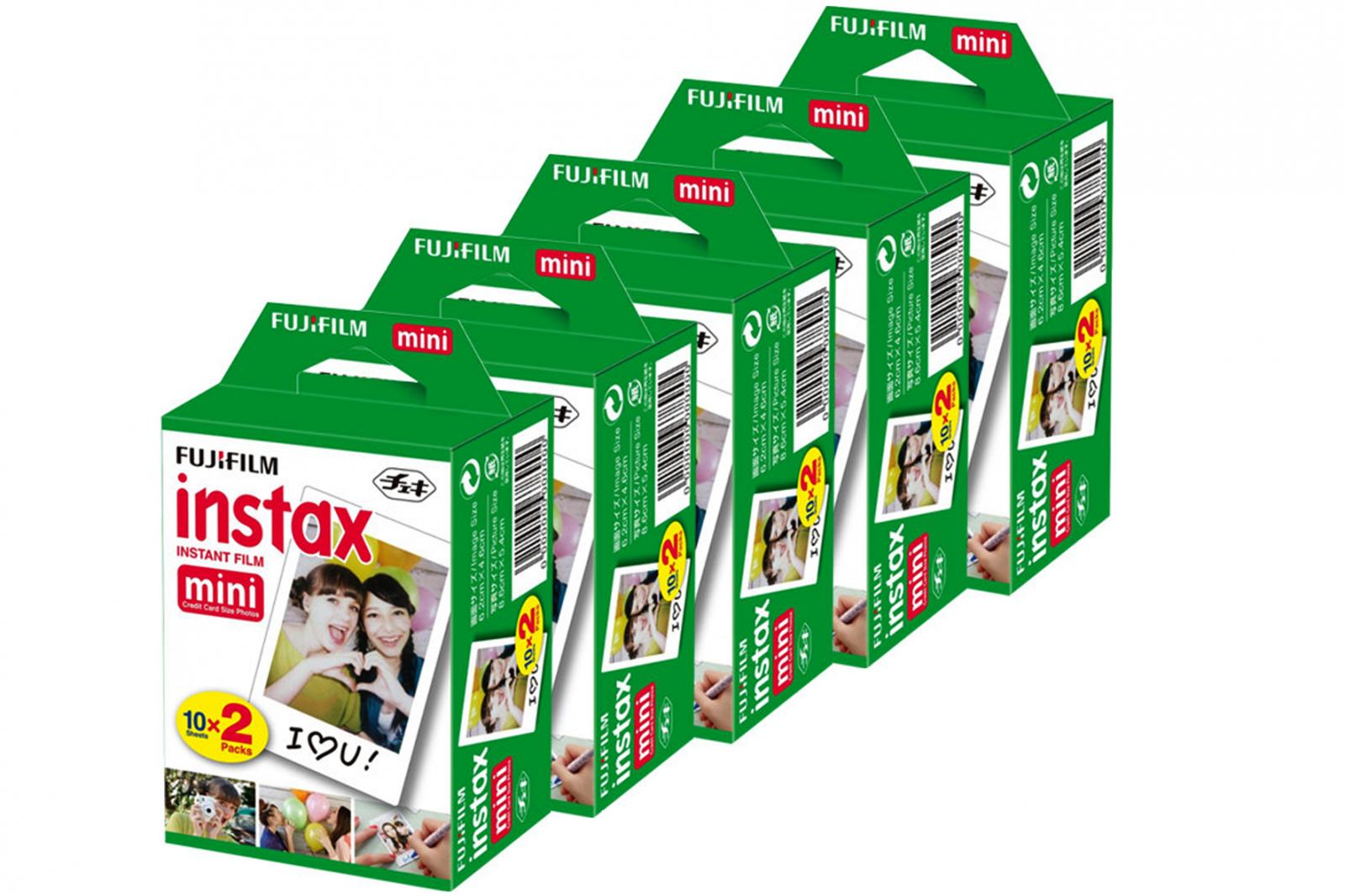 Fujifilm INSTAX mini film, 100 fotografií (5x20ks)