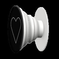 Držák na telefon White Heart Black + PopClip