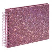 Hama album klasické spirálové GLAM 24x17 cm, 50 stran, růžová, bílé listy
