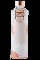 Skleněná láhev EQUA s koženým obalem Mismatch Heavens