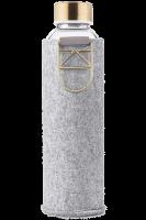 Skleněná láhev EQUA s plstěným obalem Mismatch Gold
