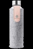 Skleněná láhev EQUA s plstěným obalem Mismatch Pink Breeze