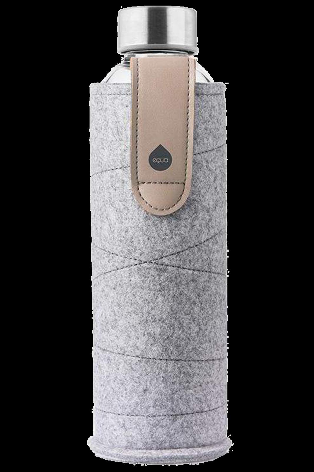 Skleněná láhev EQUA s plstěným obalem Mismatch Sand Sky