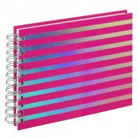 Hama album klasické spirálové FLASHY 24x17 cm, 50 stran, růžová, bílé listy