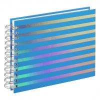 Hama album klasické spirálové FLASHY 24x17 cm, 50 stran, modrá, bílé listy