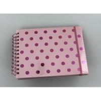 Hama album klasické spirálové TWINKLE 24x17 cm, 50 stran, růžová, bílé listy