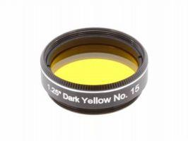 "Explore Scientific Dark Yellow N15 1.25"" Filter"