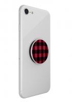 PopSockets Original PopGrip, Classic Check Red, tkanina