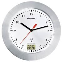 Bresser MyTime Bath Waterproof Wall Clock, white