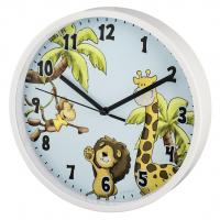 Hama Safari dětské nástěnné hodiny, průměr 22,5 cm, tichý chod