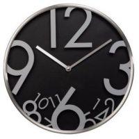 nástěnné hodiny AG-300, tichý chod, černé
