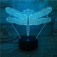 3D lampa Dragonfly