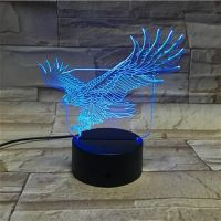 3D lampa Eagle Animal