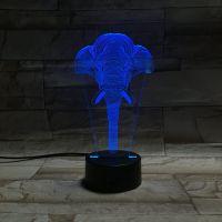 3D lampa Elephant