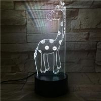 3D lampa Giraffe