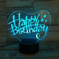 3D lampa Happy Birthday T