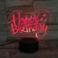 3D lampa Happy Birthday T