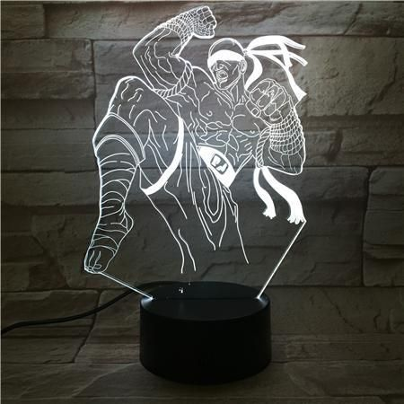 3D lampa KongFu Men