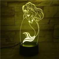 3D lampa Mermaid