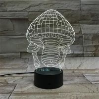 3D lampa Mushroom