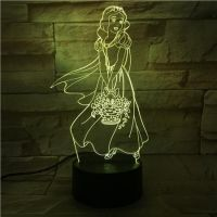 3D lampa Snow White