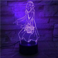 3D lampa Snow White