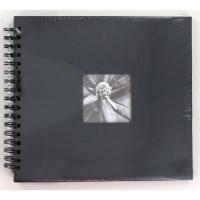 Hama album klasické spirálové FINE ART 28x24 cm, 50 stran, šedé