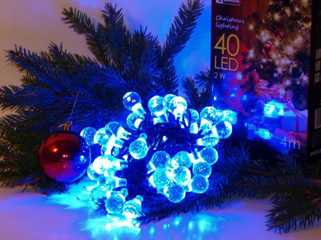 EMOS ZY1131 světelný řetěz 40 LED modrá kapka